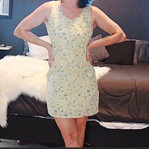 Trendy vintage pastel floral dress